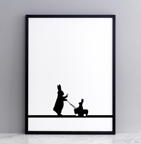 Framed Insta Baby Rabbit Print