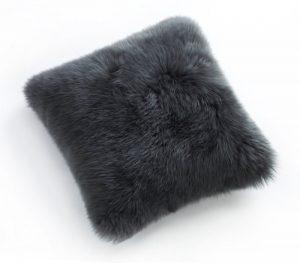 Sheepskin Cushion Steel