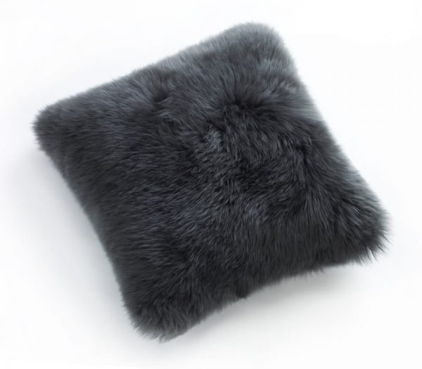 Sheepskin Cushion Steel