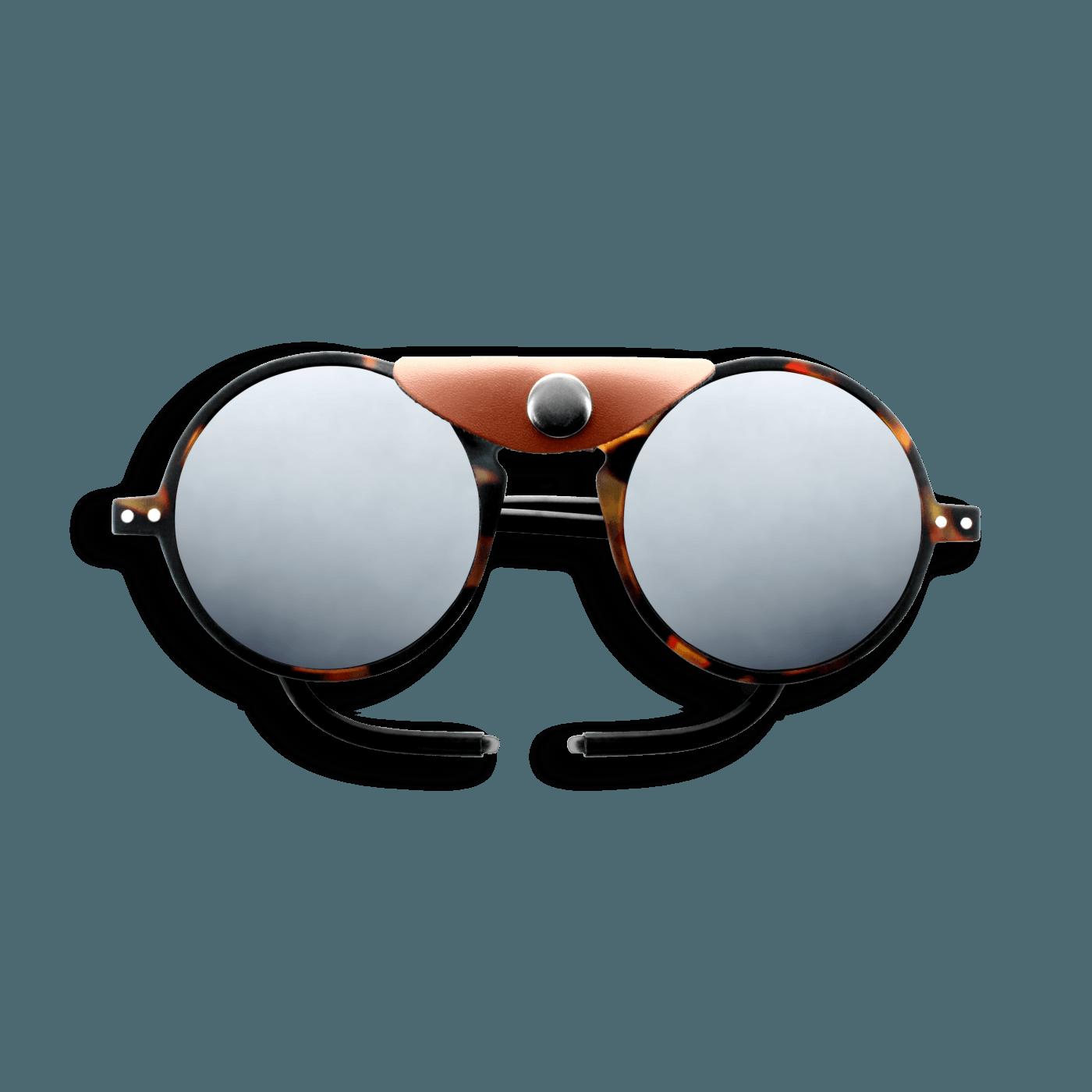 Izipizi #Sun Glacier Tortoise Soft Brown Shields with Mirror Lens Cat 4