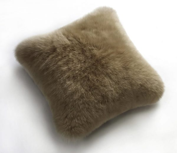 Sheepskin Cushion Taupe