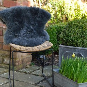 Silky Sheepskin Rug Dark Grey