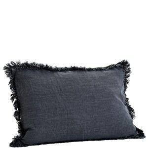 Cushion Cover with Frayed Fringe Edges