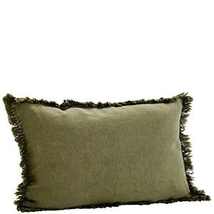 Cushion Cover with frayed fringe edges