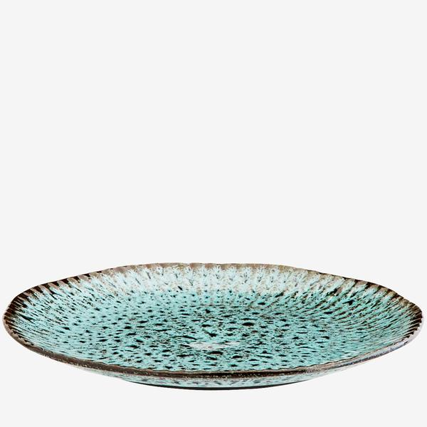 Turquoise Stoneware Plate