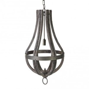 Denver Grey Lamp Iron/Wood