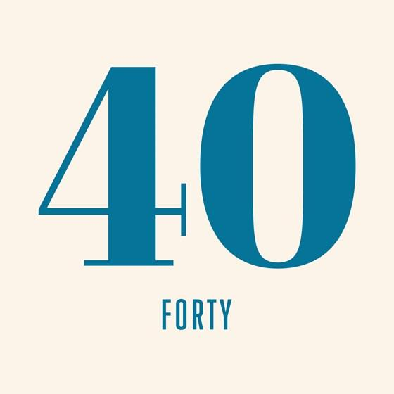 Forty Greetings Card