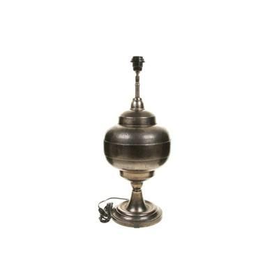 Bronze Arabic Lamp Base and Mirror Shade