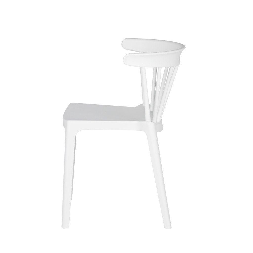 White Bliss Bars Plastic Chair