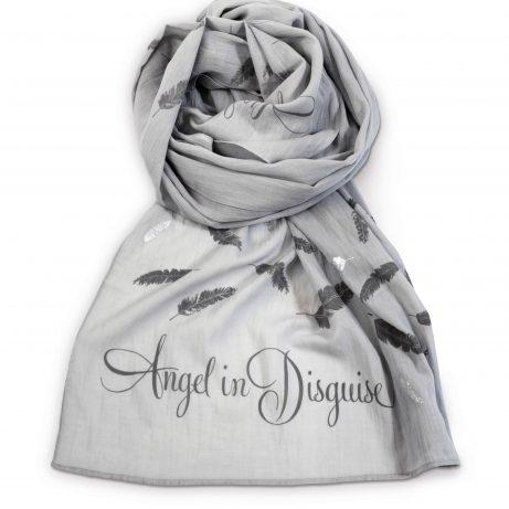 'Angel in Disguise' Printed Grey Scarf