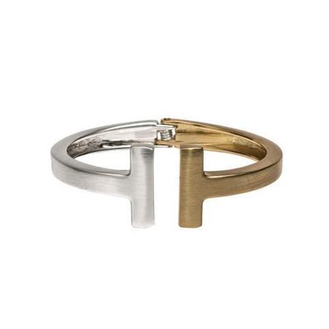 Brushed Gold and Silver Bracelet