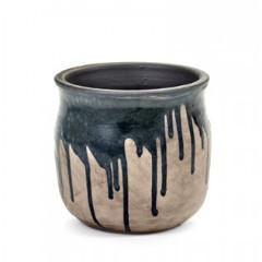 Dripping Black Pot Large