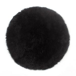 Curly Sheepskin Seat Pad in Black