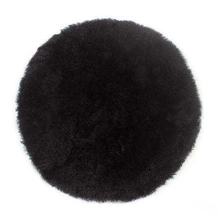 Curly Sheepskin Seat Pad in Black