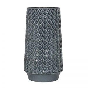 Blue Ceramic Umbrella Vase