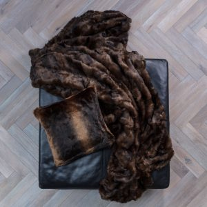 Faux Fur Throw Mink 170 x 240cm