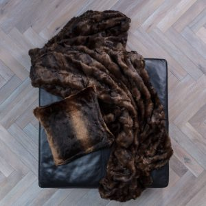 Faux Fur Throw Mink 170 x 240cm