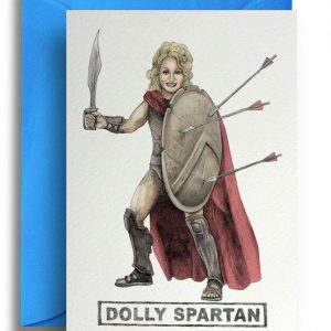 Greetings Card - Dolly Spartan