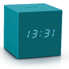 Gravity Cube Click Clock Teal