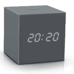 Gravity Cube Click Clock Grey