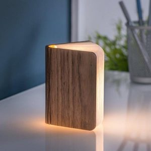 Mini LED Smart Book Light Walnut