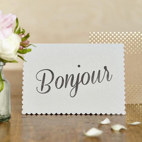 Bonjour Greetings Card