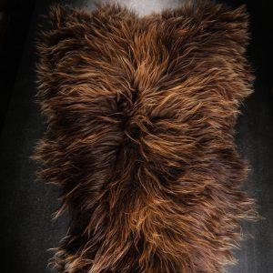 Icelandic Sheepskin Rug Rusty Brown