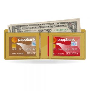 Gold Metallic Paper Wallet