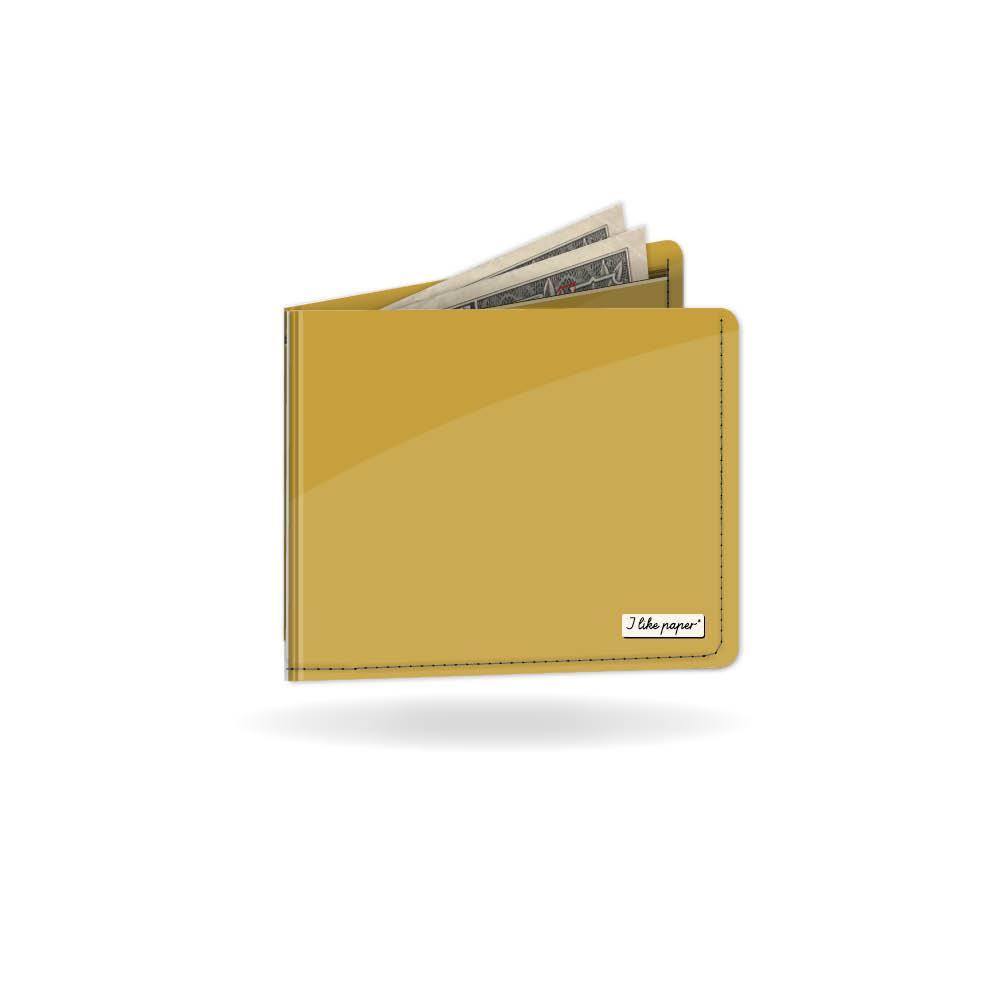 Gold Metallic Paper Wallet