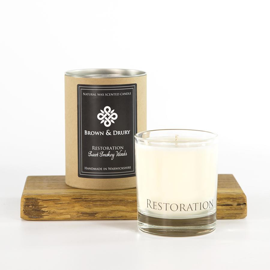 Brown and Drury Restoration Candle