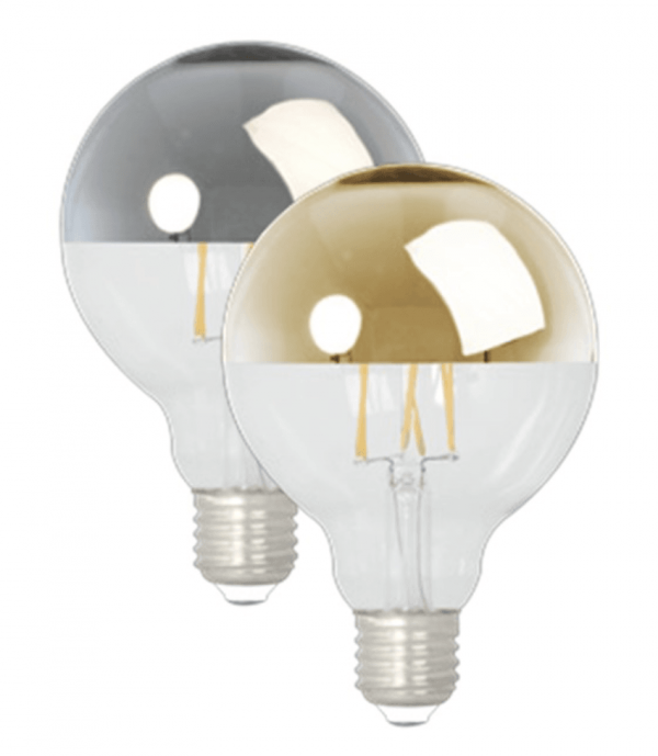 Gold Mirror Top Globe LED Bulb (Dimmable)