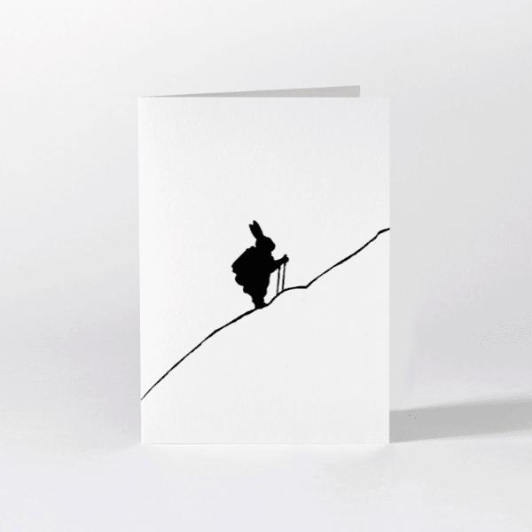Hiking Rabbit Card