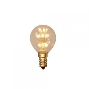 Pearl LED E14 Golf Ball Bulb Gold