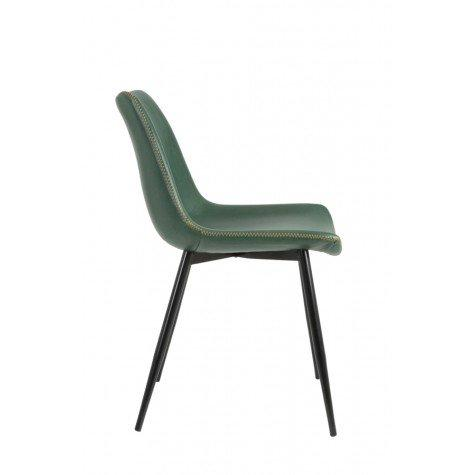 Green Faux Leather Dining Chair