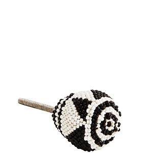 Black and White Beads Knob