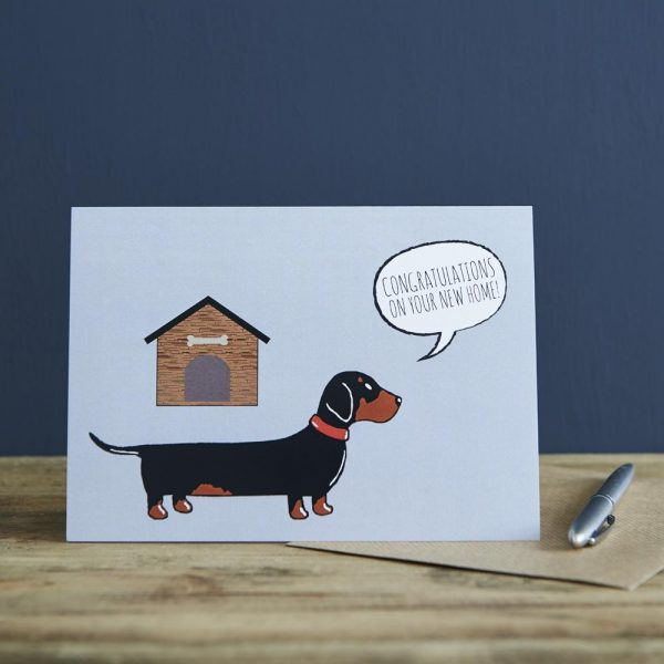 Dachshund New Home Greetings Card