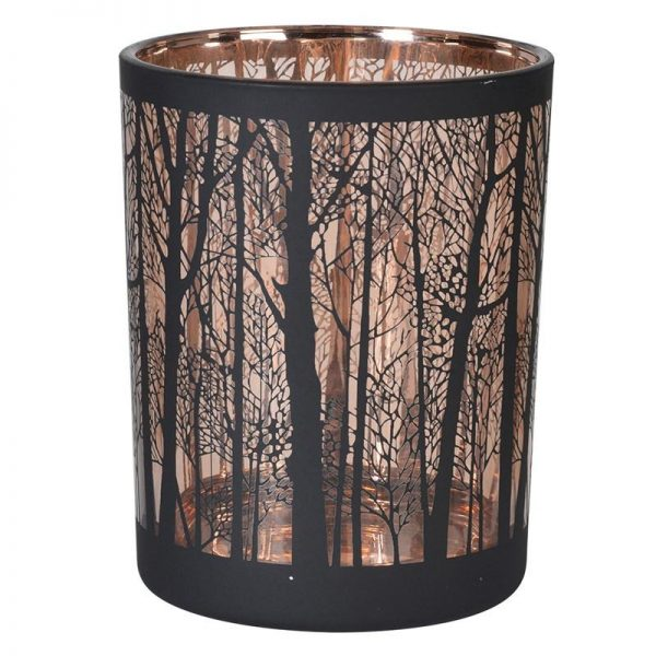 Autumn Forest Copper Candle Holder Small