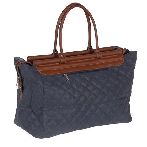 Blue Quilted Bar Top Bag