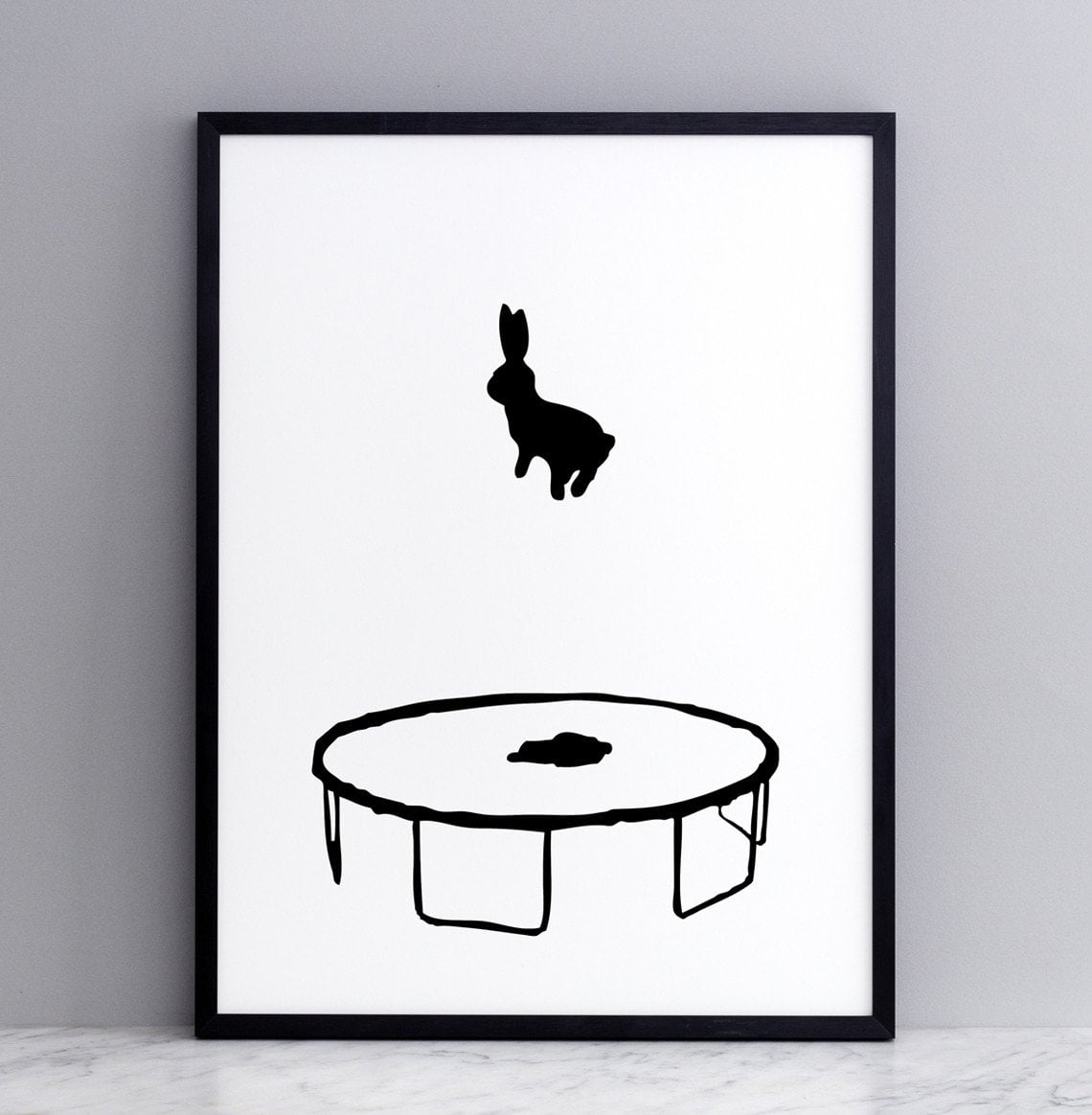 Bouncing Rabbit Print with Print