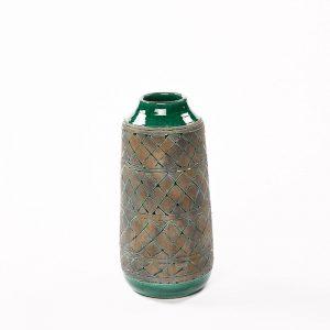 Ceramic Vase Green/Natrual