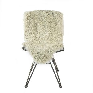 Large Curly Sheepskin Rug Oyster