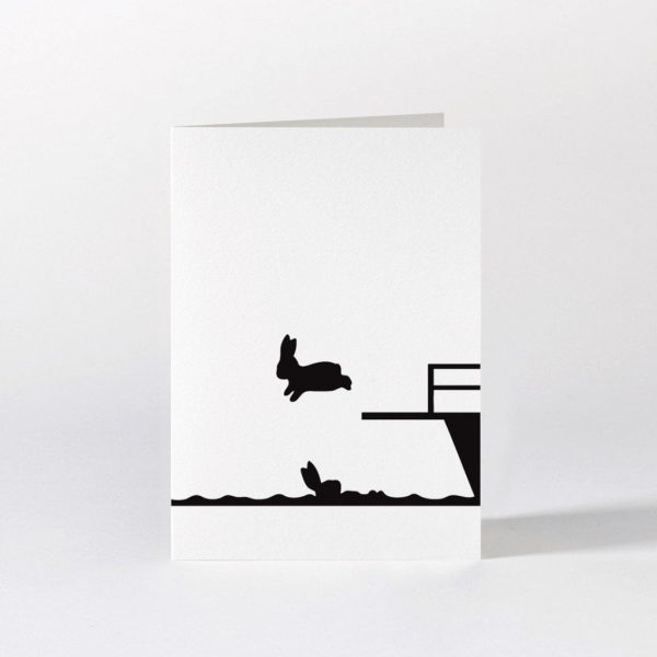 Diving Rabbit Card