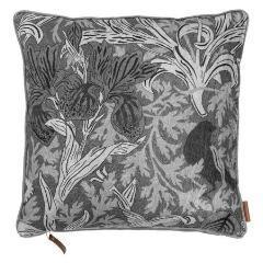 Grey Velvet Art Deco Print Cushion