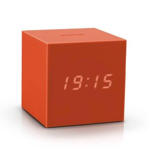 Gravity Cube Click Clock Orange
