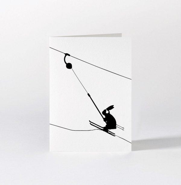 Button Lift Rabbit Card