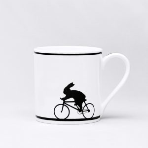 Cycling Rabbit Mug by Ham