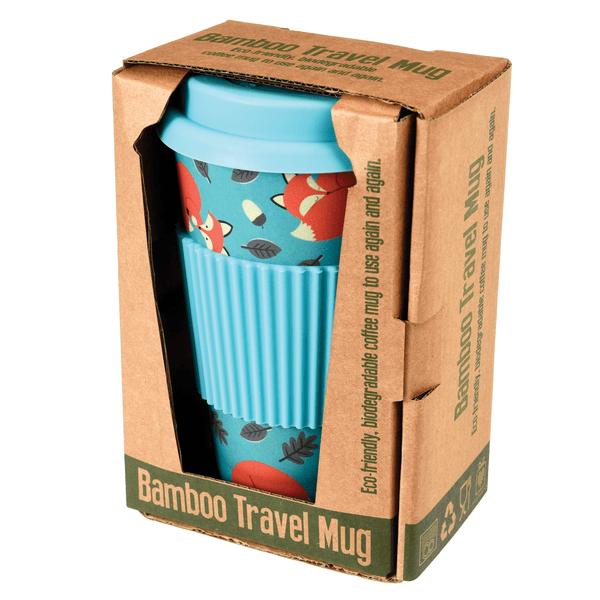 Bamboo Rusty The Fox Travel Mug