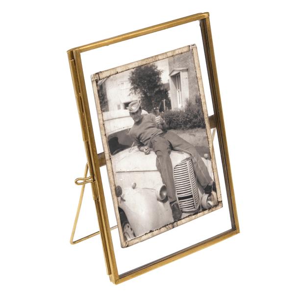 Brass Standing Gallery Style Photo Frame 15x10cm