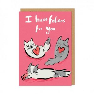 I have Felines for You Valentines Card