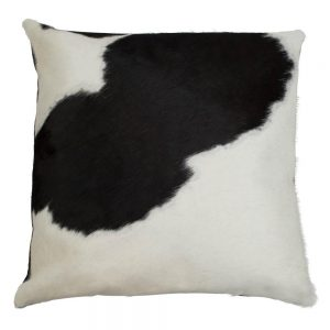 Black Cow Hide Square Cushion